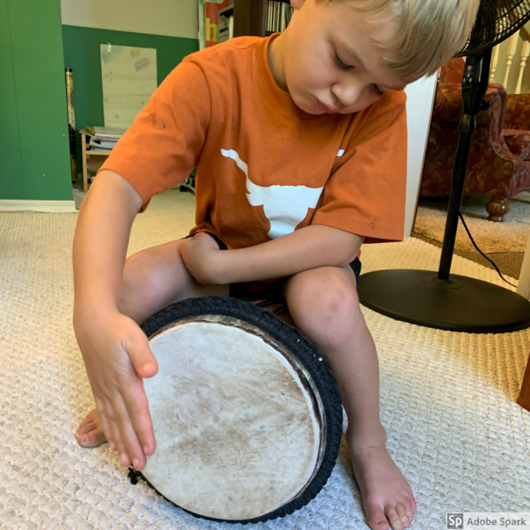preschool music class drum wenatchee